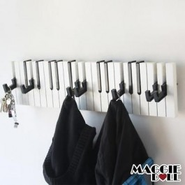 Piano Design Keyboard Coat Clothes Bag Wall Mounted Hanger